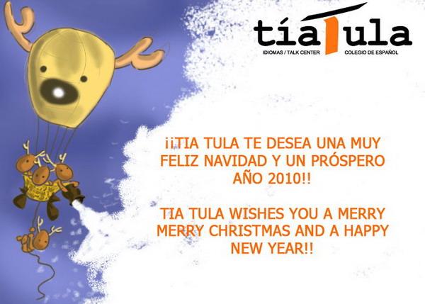 Tarjeta Navidad Tía Tula